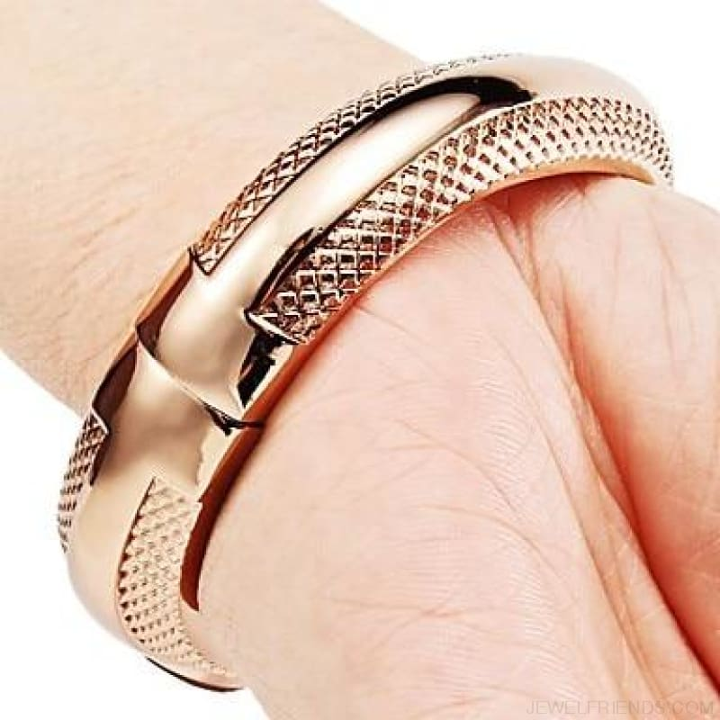 Rose Gold Bangle Bracelet Watches - Custom Made | Free Shipping