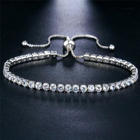 Image of Rose Gold/silver Color Cubic Zirconia Tennis Bracelet - Bjcs71025 - Custom Made | Free Shipping