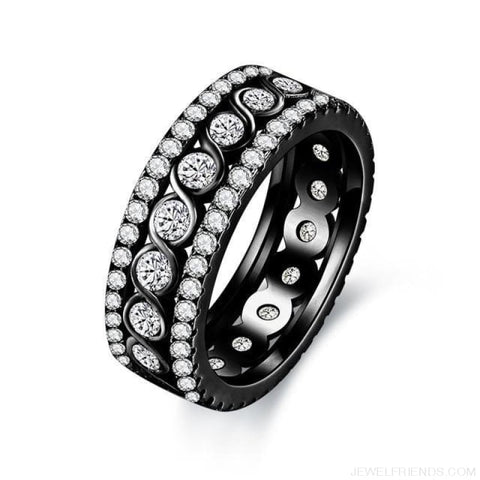 Image of Round Pattern Rings Engagement - 10 / Black Gold Color - Custom Made | Free Shipping