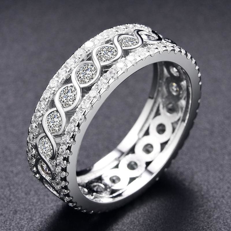 Round Pattern Rings Engagement - Custom Made | Free Shipping