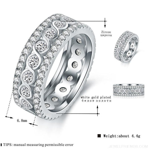Image of Round Pattern Rings Engagement - Custom Made | Free Shipping
