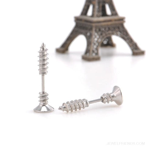 Screw Stud Earrings - Custom Made | Free Shipping