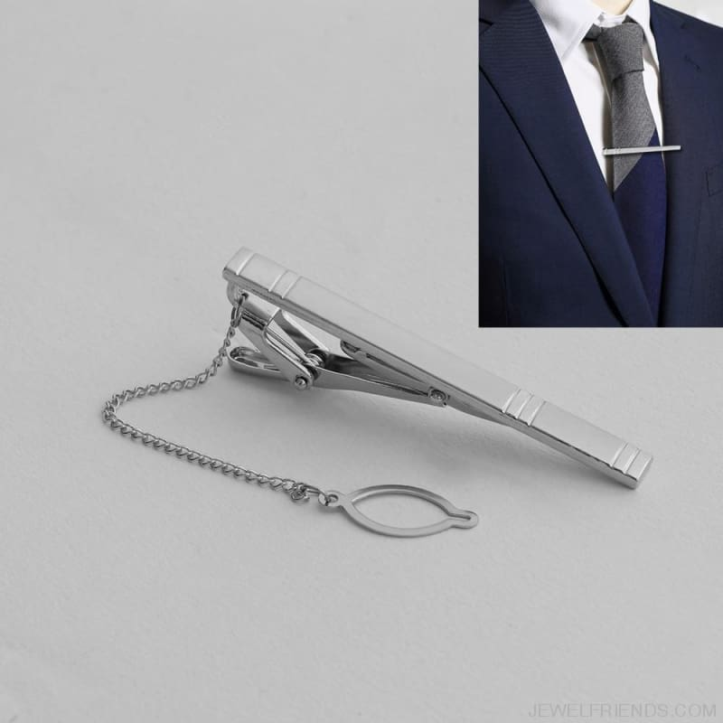Silver Alloy Metal Tie Clip - Custom Made | Free Shipping