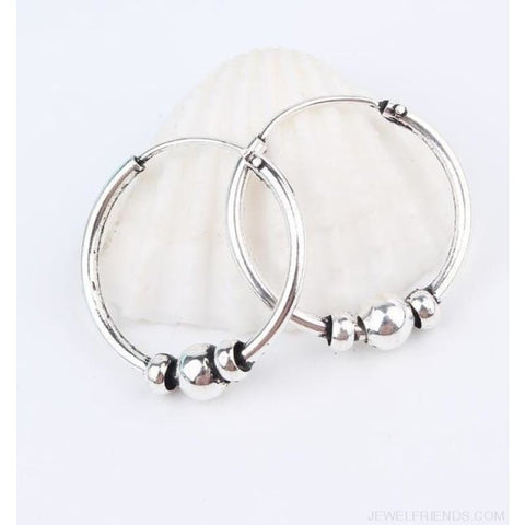Image of Silver Color Circle Rope Wrap Earrings - 5 - Custom Made | Free Shipping