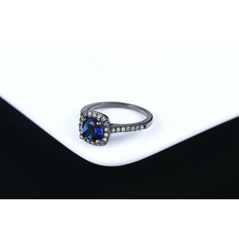 Image of Silver Color Exquisite Square Weddin Ring Cubic Zirconia - Custom Made | Free Shipping