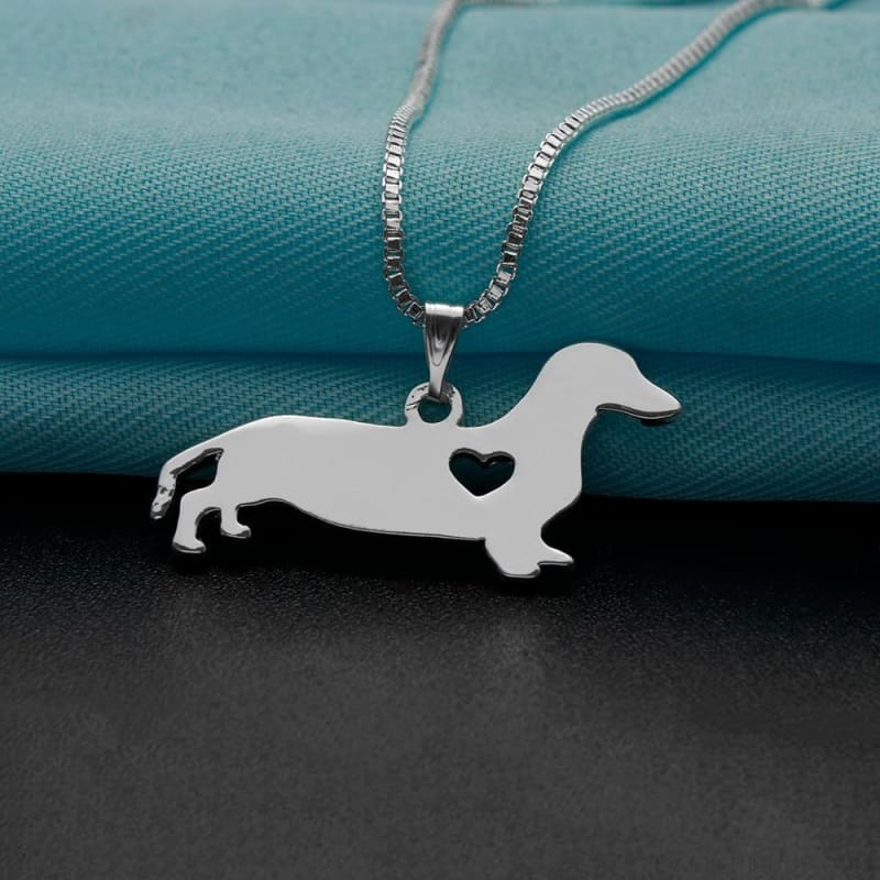 Silver Dachshund Pendant Necklace - Custom Made | Free Shipping
