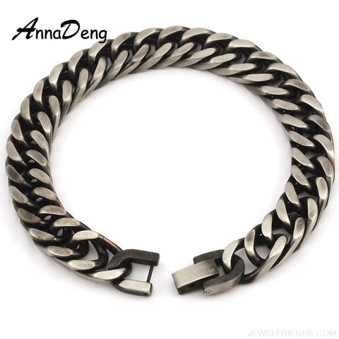 Silver / Gold / Black Stainless Steel Bracelet & Bangle Hip Hop Party Rock Jewelry - Custom Made | Free Shipping