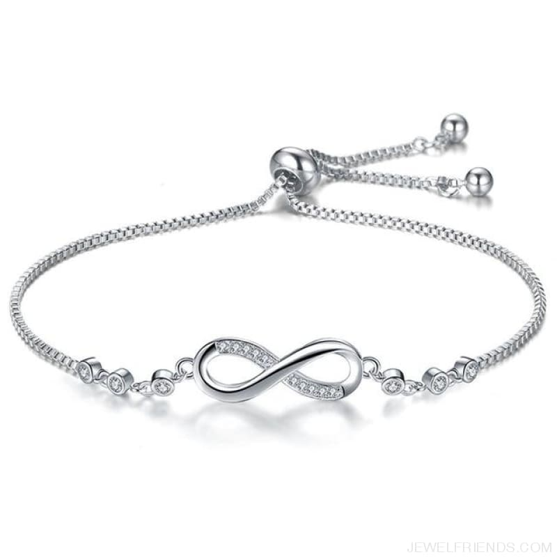 Silver/gold Color Infinity Adjustable Charm Bracelets - Silver Color - Custom Made | Free Shipping