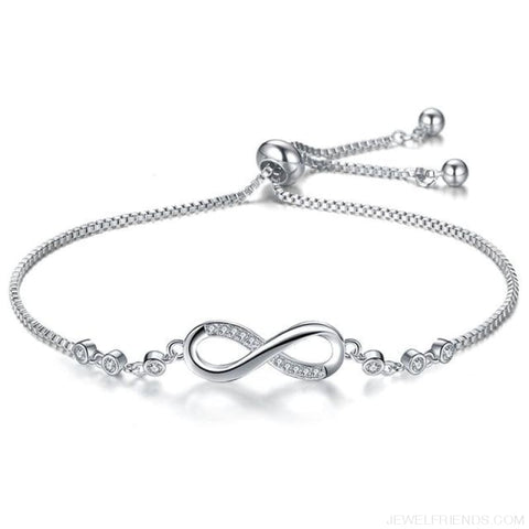 Image of Silver/gold Color Infinity Adjustable Charm Bracelets - Silver Color - Custom Made | Free Shipping