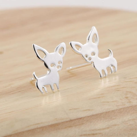 Image of Simple Cute Chihuahua Earrings - Custom Made | Free Shipping