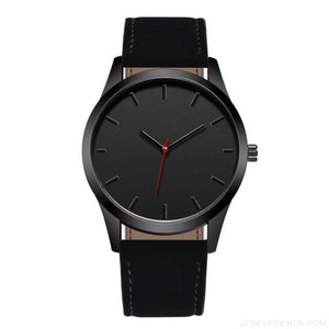 Simple Dial Quartz Leather Watches
