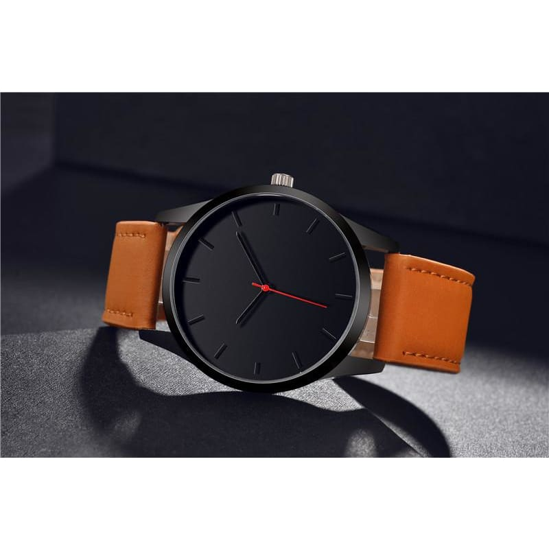 Simple Dial Quartz Leather Watches - Custom Made | Free Shipping