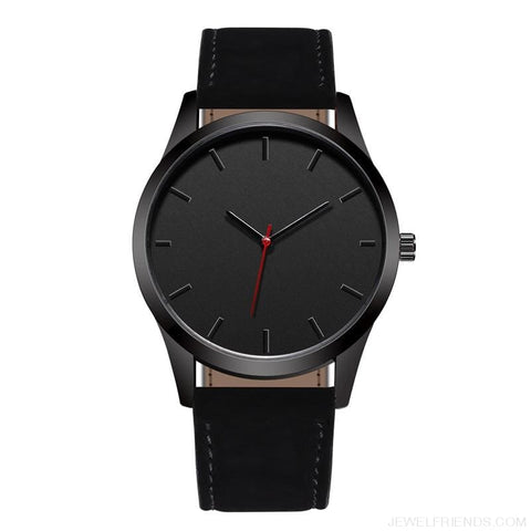 Image of Simple Dial Quartz Leather Watches - Custom Made | Free Shipping
