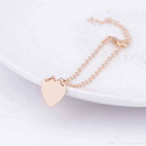 Simple Gold/silver Heart Bracelet - Custom Made | Free Shipping