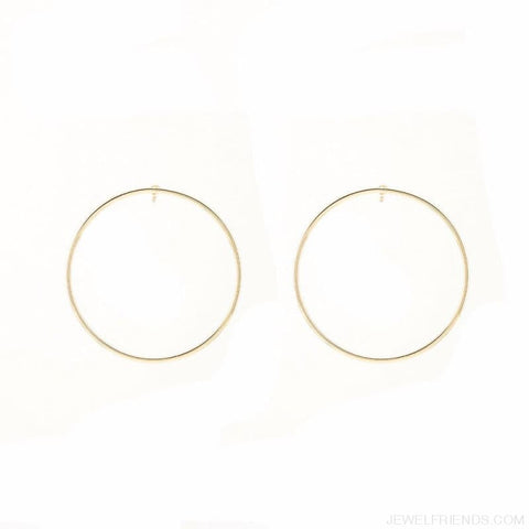 Image of Simple Korean Big Round Circle Hoop Earrings - Custom Made | Free Shipping