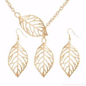Simple Leaves Jewelry Set - Custom Made | Free Shipping