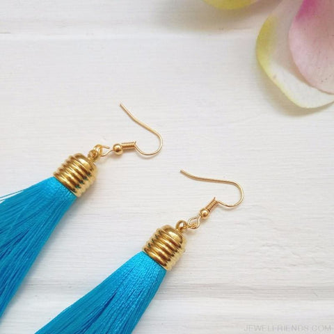 Image of Simple Long Tassel Earrings Alloy Plating - Custom Made | Free Shipping