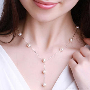 Simple Pearl Chain Jewelry Set