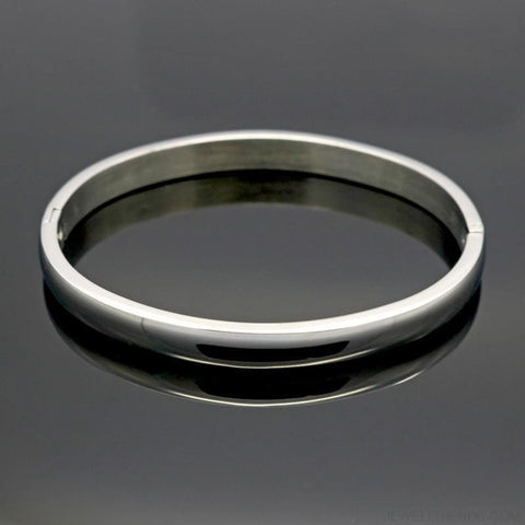 Simple Smooth Bangle Bracelet - Custom Made | Free Shipping