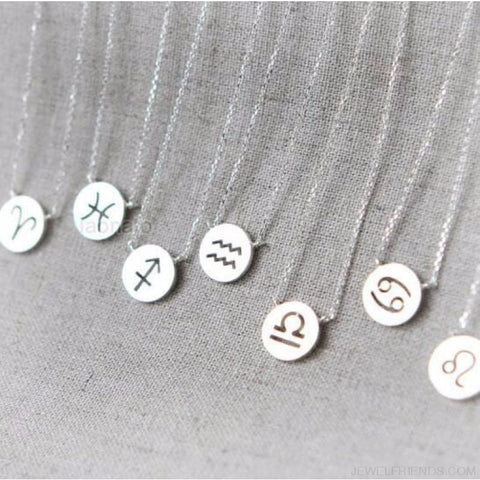 Simple Zodiac Sign Constellation Signs Necklaces - Custom Made | Free Shipping