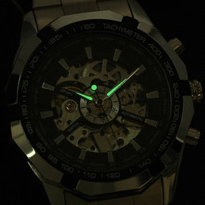 Skeleton Classic Sport Watch Glowing Pointer