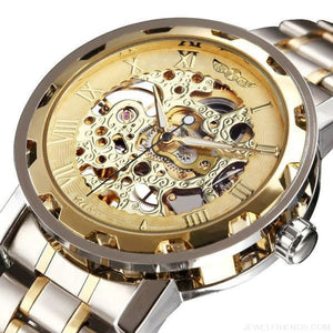Skeleton Mechanical Watch Stainless Steel Strap 17 Colors - Custom Made | Free Shipping