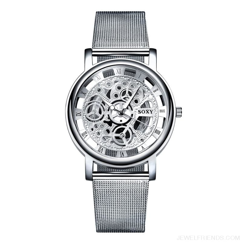 Skeleton Mesh Belt Quartz Watches - Custom Made | Free Shipping