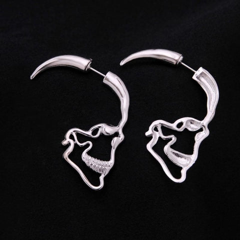 Image of Skull Silhoutte Stud Earrings - Custom Made | Free Shipping