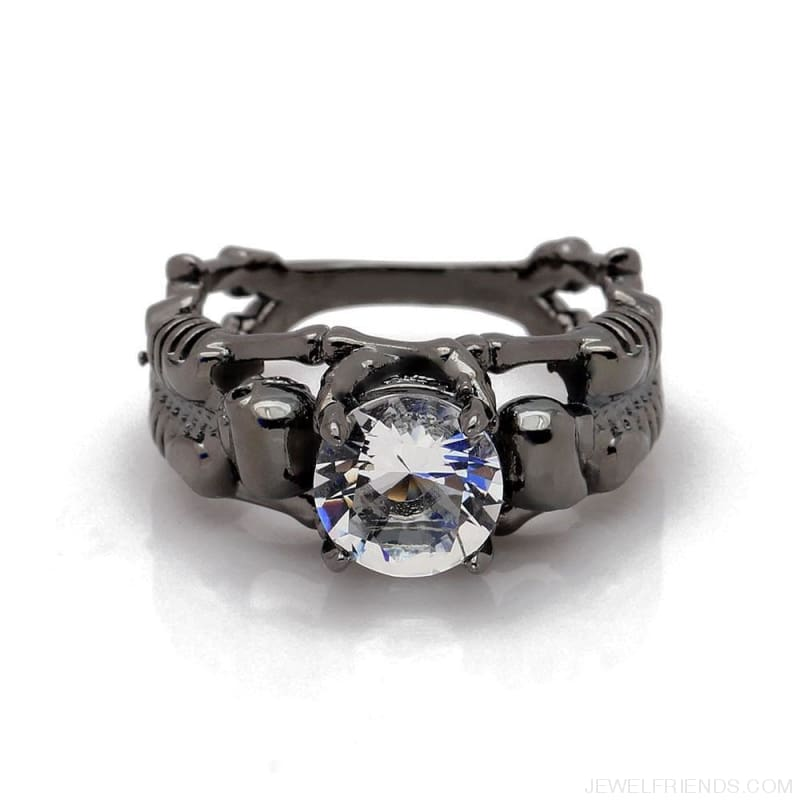 Skull Skeleton Cubic Zirconia Ring - Custom Made | Free Shipping