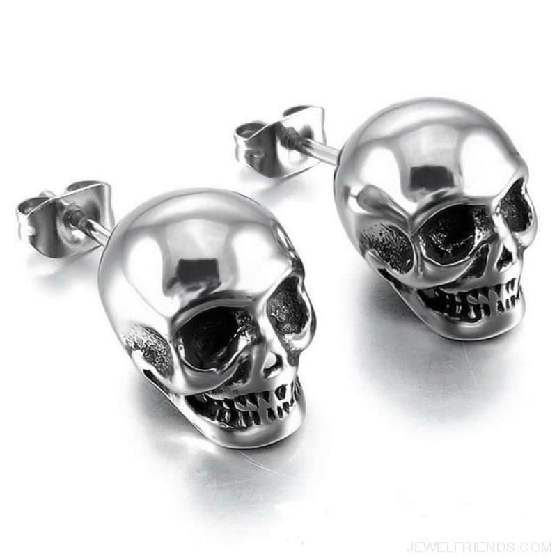 Skull Stud Earrings - A 1 - Custom Made | Free Shipping