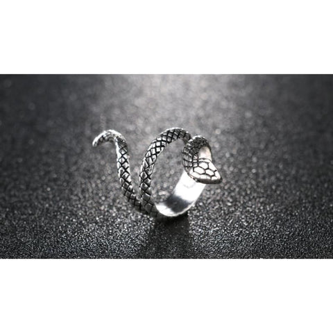 Image of Snake Silver Color Rings - Custom Made | Free Shipping