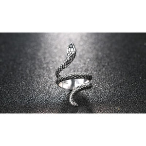Snake Silver Color Rings