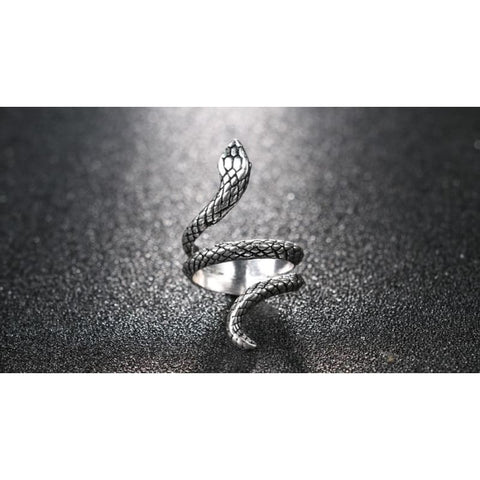 Snake Silver Color Rings - Custom Made | Free Shipping