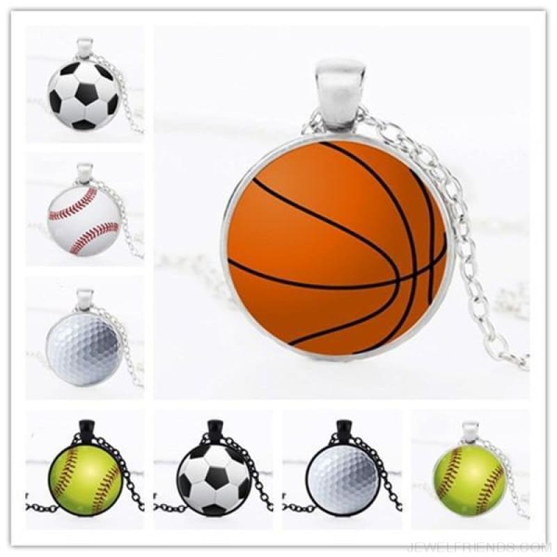 Sport Balls Photo Pendant Necklaces - Custom Made | Free Shipping