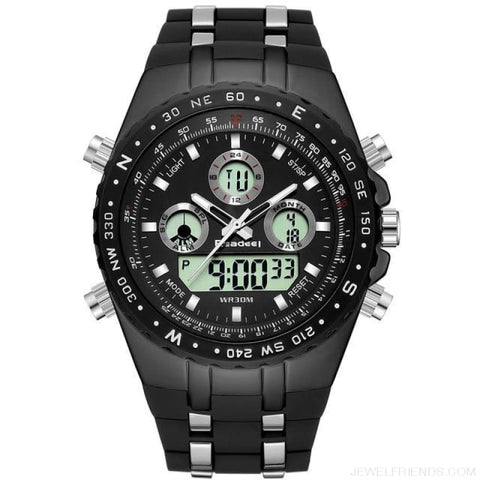 Sport Quart Military Waterproof Led Digital Watches - Black - Custom Made | Free Shipping