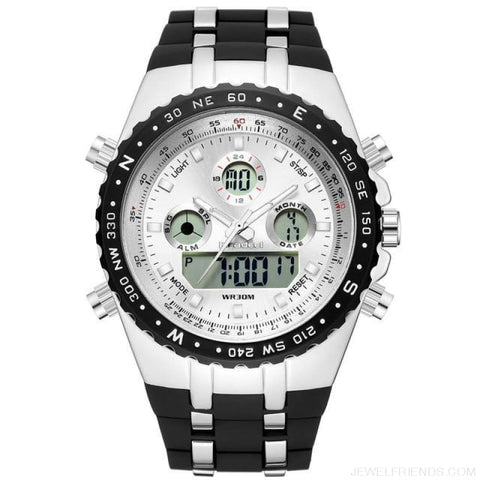 Sport Quart Military Waterproof Led Digital Watches - White - Custom Made | Free Shipping