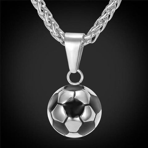 Sporty Football Chain Necklace - 316L Stainless Steel - Custom Made | Free Shipping