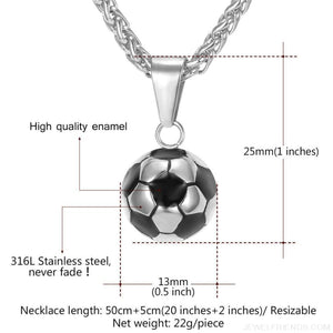 Sporty Football Chain Necklace