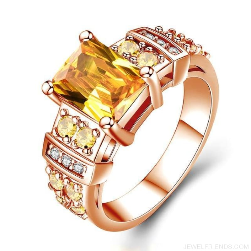 Square Shape Clear Aaa Zircon Wedding Ring - 10 / 4M13 - Custom Made | Free Shipping