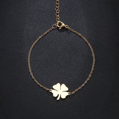 Stainless Steel Clover Shape Jewelry Set - Gold 1 - Custom Made | Free Shipping