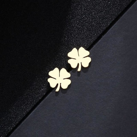 Stainless Steel Clover Shape Jewelry Set - Gold 2 - Custom Made | Free Shipping