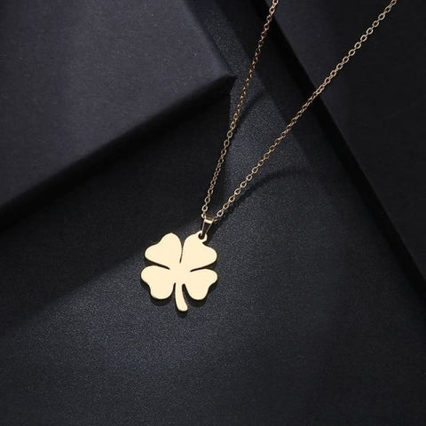 Stainless Steel Clover Shape Jewelry Set - Gold - Custom Made | Free Shipping