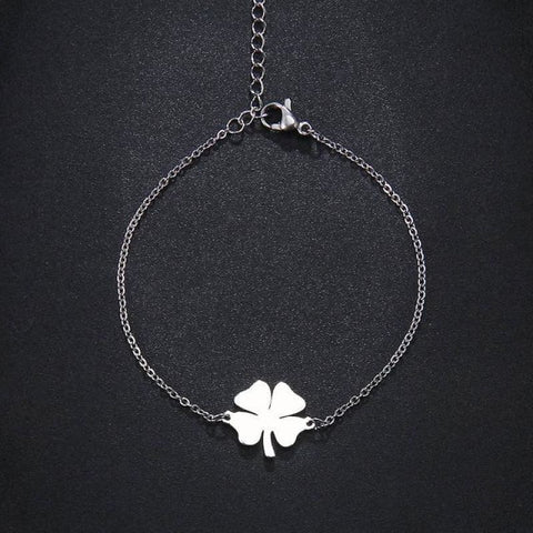 Stainless Steel Clover Shape Jewelry Set - Silver 1 - Custom Made | Free Shipping