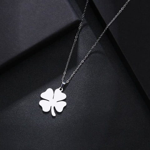 Stainless Steel Clover Shape Jewelry Set - Silver - Custom Made | Free Shipping