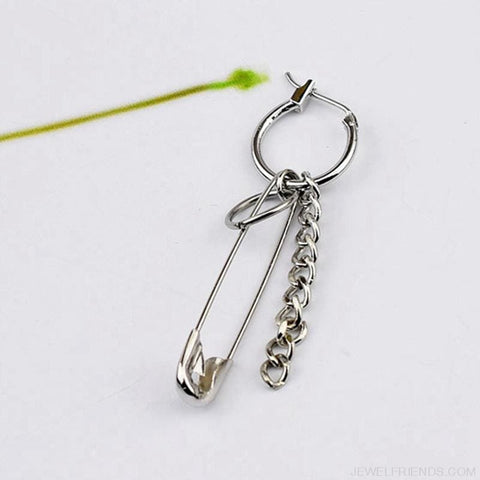 Image of Stainless Steel Safety Pin Geometry Chain - Custom Made | Free Shipping