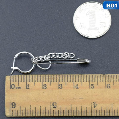 Stainless Steel Safety Pin Geometry Chain - Custom Made | Free Shipping