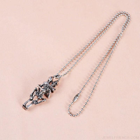Image of Stainless Steel Skull Pendant Chain Necklace - Custom Made | Free Shipping