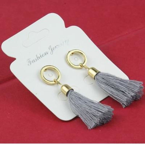 Image of Statement Square Crystal Tassel Earrings - E0102Hui - Custom Made | Free Shipping