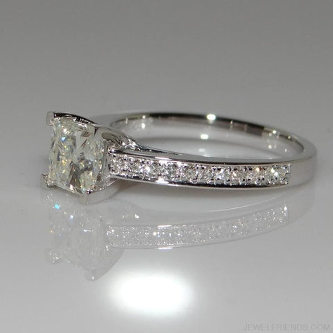 Image of Sterling 925 Silver Simple Design Square Bridal Ring - Custom Made | Free Shipping