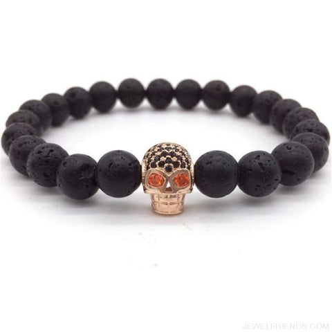 Image of Stone Beads Skull Bracelet - 3 - Custom Made | Free Shipping